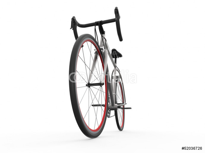 Speed Racing Bicycle Isolated on White Background 64238