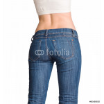 Bottom in jeans isolated in studio 64238