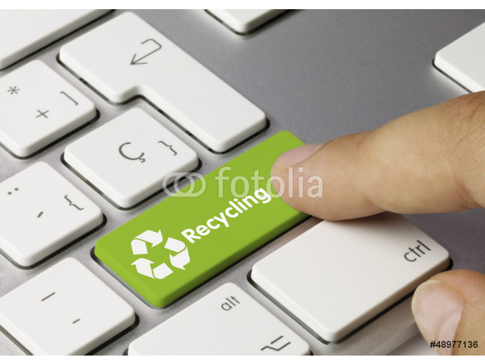 Wallpaper Recycling tastatur. Finger 64238