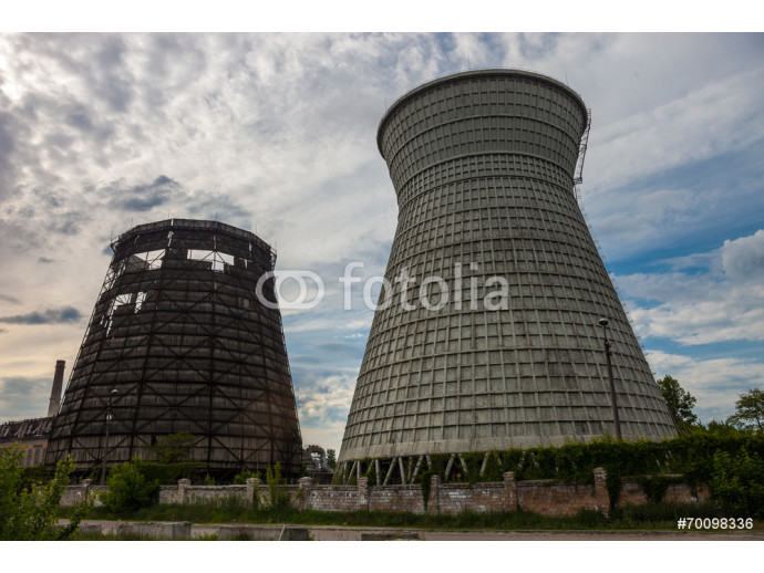 Cooling towers of the cogeneration plant in Kyiv, Ukraine 64238