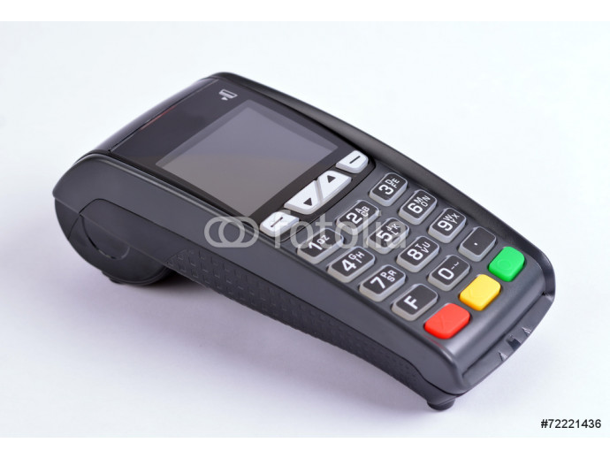 POS Payment GPRS Terminal, isolated on white 64238