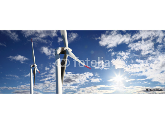 energy wind turbines and sky with clouds 64238