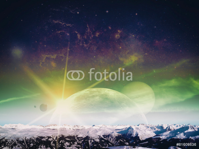 Another world landscape, abstract fantasy backgrounds 64238