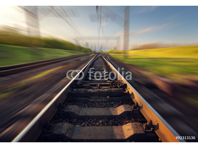 Wallpaper Cargo train platform at sunset. Railroad in Ukraine. Railway 64238