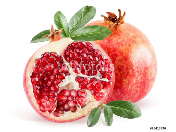 pomegranate isolated on the white background 64238