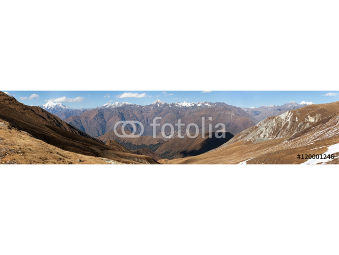 Panoramic view from Jang La pass to Lower Dolpo area 64238