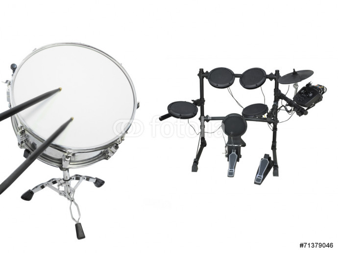 Drums set isolated under the white background 64238
