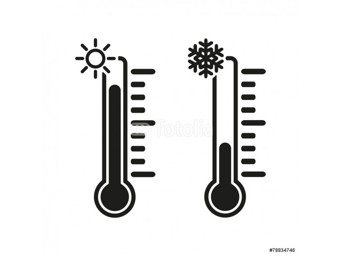 The thermometer icon. High and Low temperature 64238