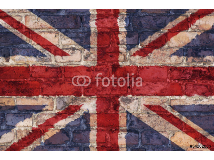 Uk flag graphic on brick background 64238