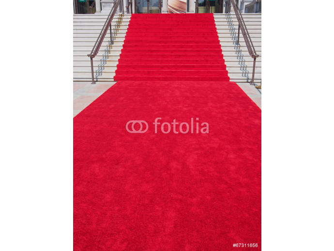 Wallpaper steps with red carpet 64238