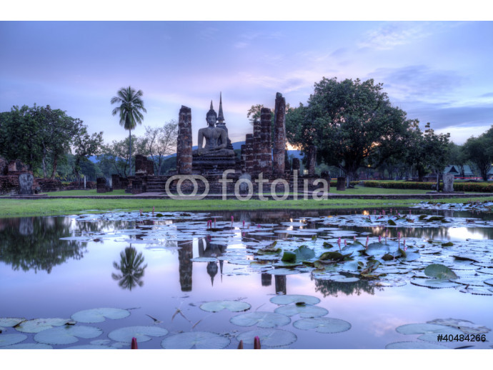Historical temple park in Thailand. 64238