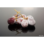 Frozen grapes or Grapes in ice Isolation on the black background 64238