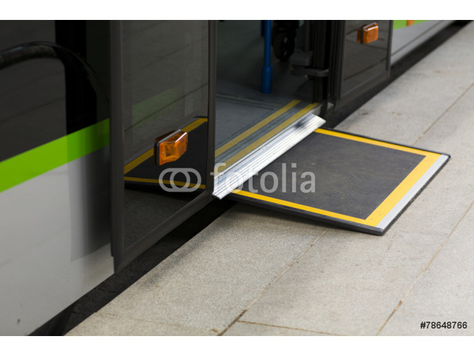 Access ramp for disabled persons and babies in a bus 64238