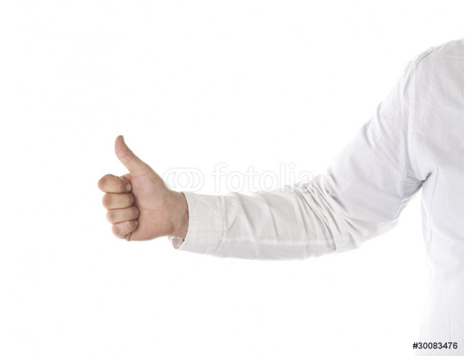 Businessman giving a thumb up, isolated on white background 64238