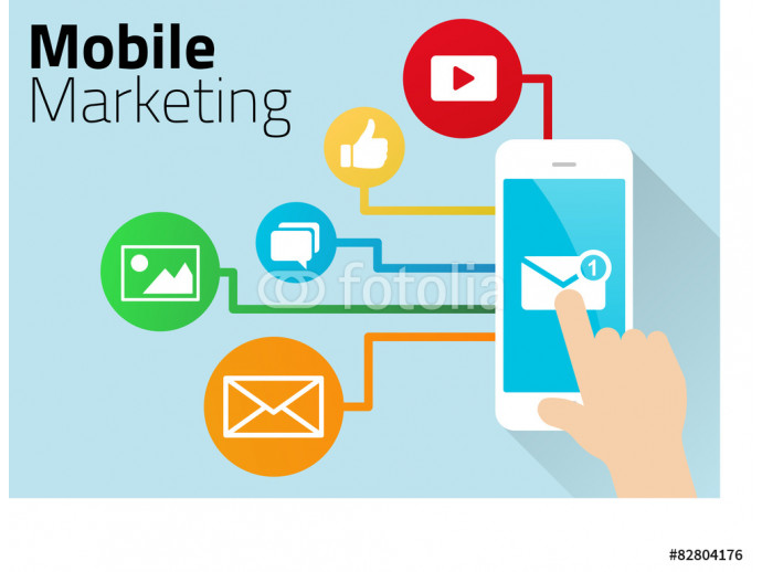 Mobile Marketing Design with Smart Phone 64238