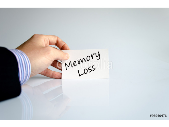Memory loss text concept 64238