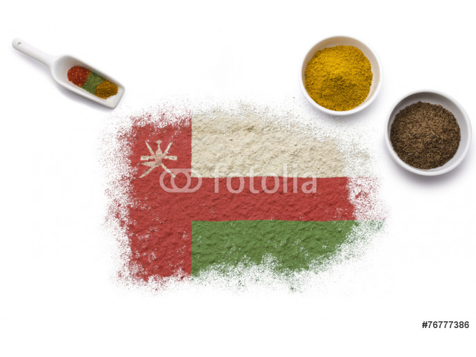 Spices forming the flag of Oman.(series) 64238