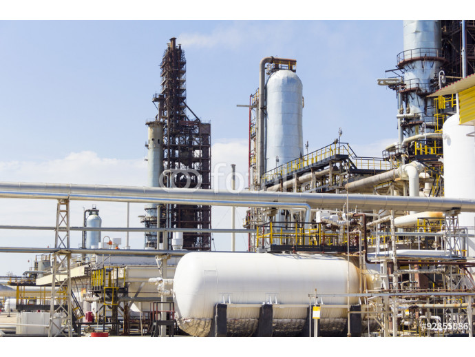 White tank on background refinery 64238