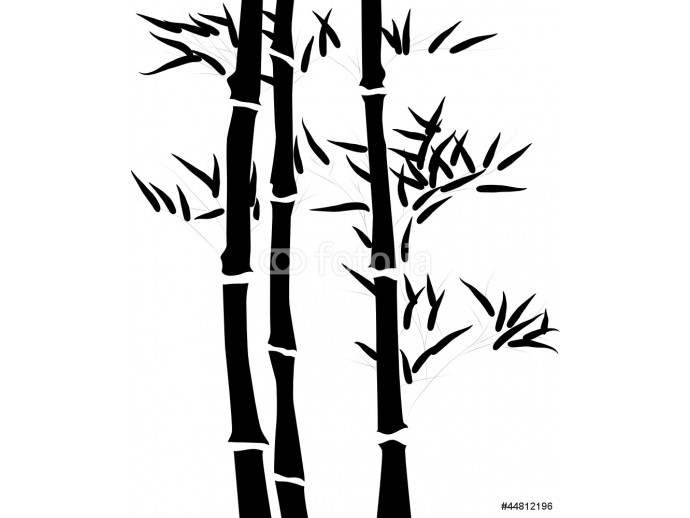 Photo wallpaper Silhouette of a branch of a bamboo 64238