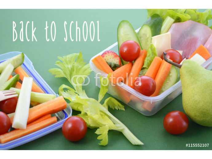 Back to school healthy lunch box. 64238
