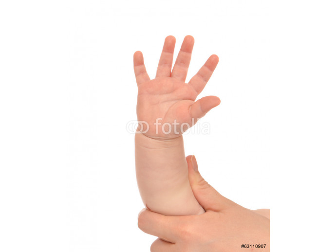 Vliestapete Little child baby kid hand with five fingers 64238