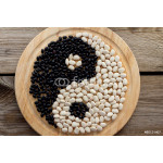 Yin and yang of black and white beans 64238