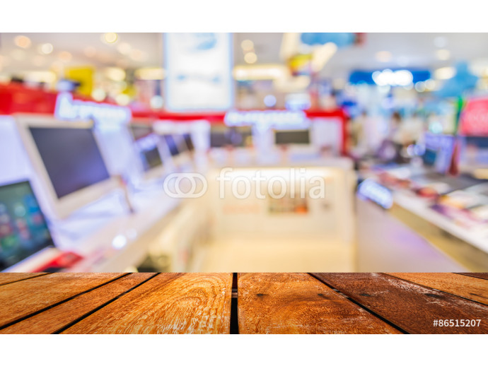 blur image of eletronic department store for background usage 64238