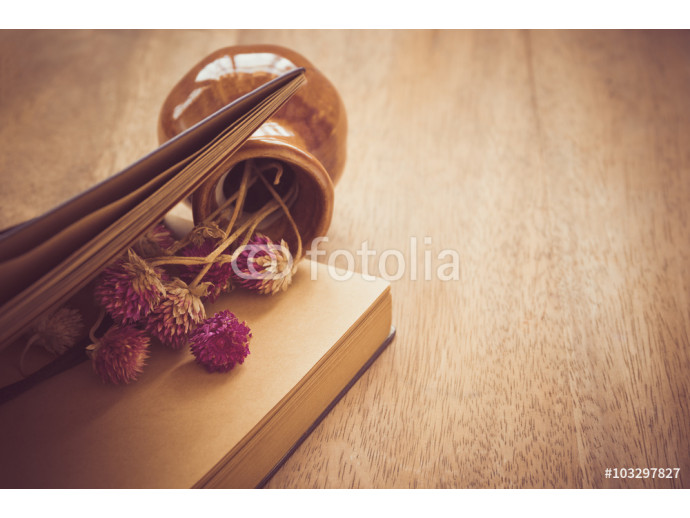 Dried flower whit old book 64238