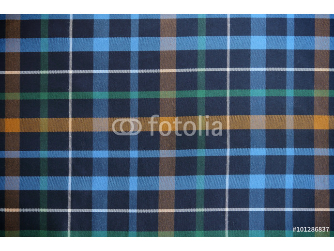 Plaid Patterns in Green, Blue, and Yellow. 64238