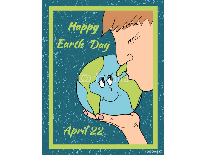 Happy Earth day banner poster  64238