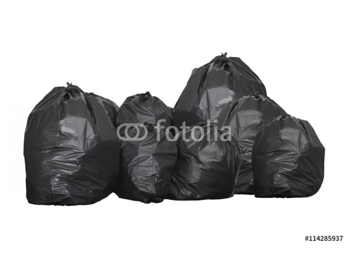garbage bag isolated on white background 64238