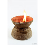 Fire on Coconut shell 64238