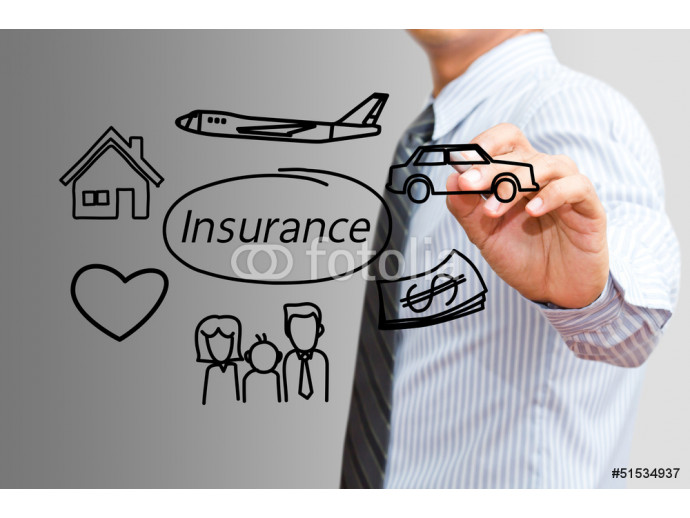 Businessman drawing Insurance concept 64238