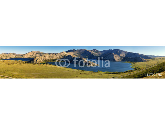 Vliestapete Panorama of Sibinskie Lakes - a group of five lakes located in Eastern Kazakhstan. 64238