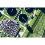 aerial view of sewage treatment plant 64238