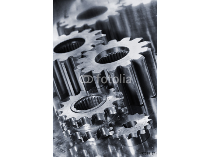 power gears and cogwheels of titanium 64238