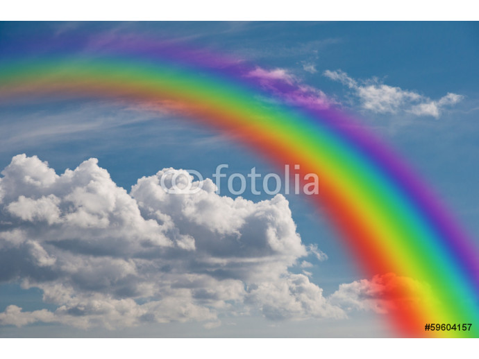 rainbow in the clouds. 64238