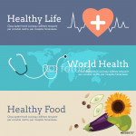 Set of Flat Design Concept for World Health Day 64238