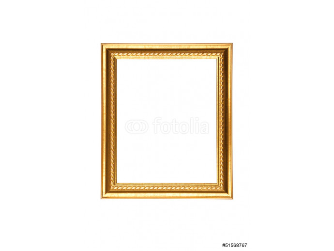Thin golden frame with blank space. 64238