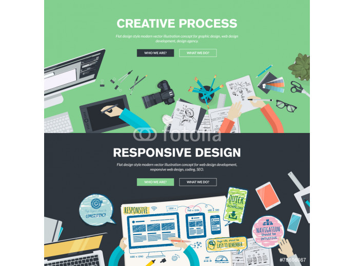 Flat design illustration concepts for graphic and web design 64238