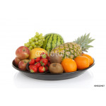 Big plate with lots of healthy fruits 64238