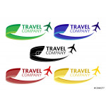 Dynamic Travel Company Logo (4 Color Variations) 64238