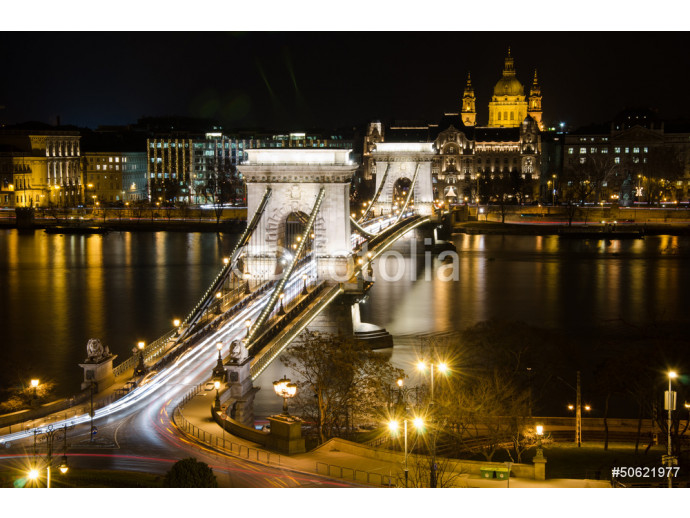 View of the Budapest Chain Bridge at Night. 64238