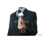 Business man with LED light bulb 64238