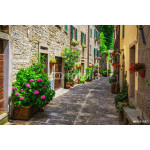 Italian street in a small provincial town of Tuscan 64238