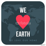 Vintage Earth Day Celebrating Card. We love Earth 64238