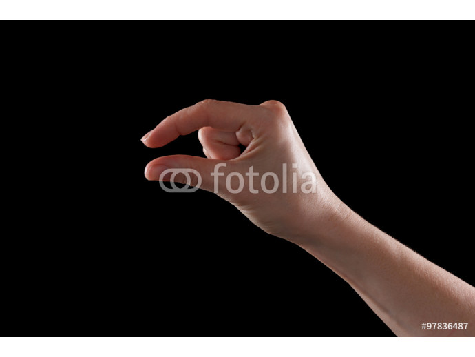Fototapeta Showing small thing gesture 64238