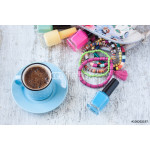 Turkish coffee with summer concept 64238