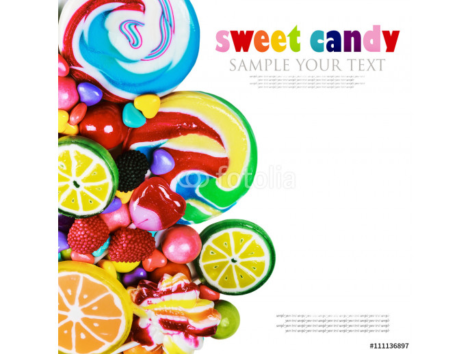 multicolored lollipops, candy and chewing gum 64238