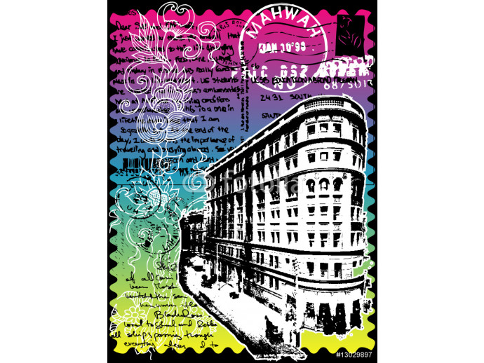 Abstract CITY Print Design Artwork 64238
